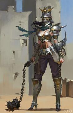 punisher Ⅱ, ㅇㅇ Joo on ArtStation at… Fantasy Female Warrior, Female Armor, Female Knight, Fantasy Armor, Medieval Fantasy, Woman Warrior, High Fantasy, Fantasy Women, Fantasy Girl