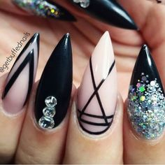 Must Try Gorgeous Nail Designs stiletto nails