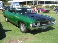 Green Grunt Machine Australian Muscle Cars, Aussie Muscle Cars, American Muscle Cars, Ford Falcon, Ford Motor Company, Big Girl Toys, Girls Toys, Performance Cars, Ford Gt