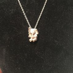 Silver elephant necklace Good condition. There is a diamond in the eye Jewelry Necklaces