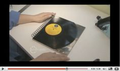 Cool crafts using old vinyl records.