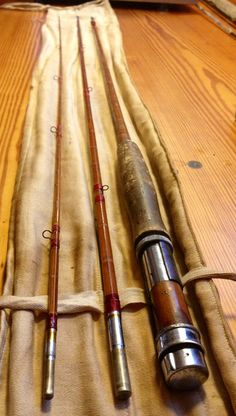 Antique split cane bamboo fly fishing rod . $189.99, via Etsy.