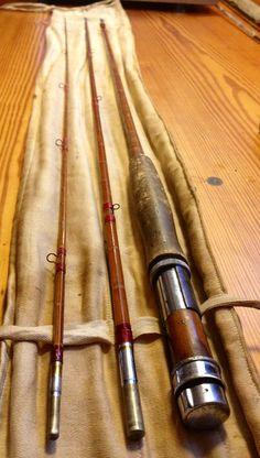 Antique split cane bamboo fly fishing rod . $189.99, via Etsy.