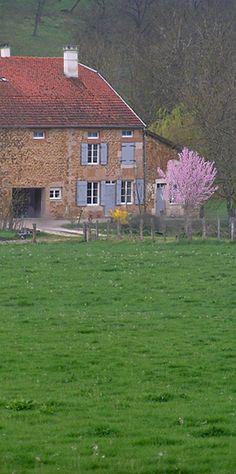 le printemps dans la campagne française