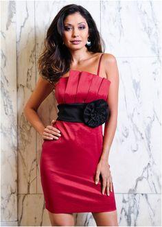 Rose waist cocktail dress