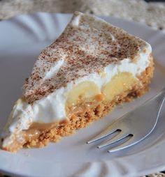 Sweet Desserts, Delicious Desserts, Dessert Recipes, Chef Recipes, Cooking Recipes, Banoffee Pie, Comida Latina, Sweet Pie, Chocolate Chip Cookies