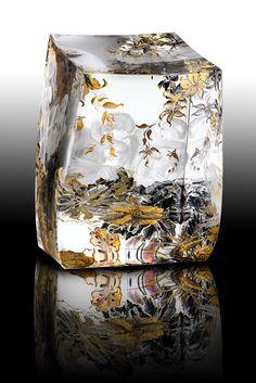 Flower Art, Glass Art, Amber, Artworks, Objects, Copper, Illustration, Flowers, Gold