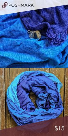 Calvin Klein Blue Teal Ombre Scarf Gorgeous gently used Calvin Klein blue teal ombre scarf. Purchased full price in 2015 from the Calvin Klein store in Glendale, Los Angeles, CA. Calvin Klein Accessories Scarves & Wraps