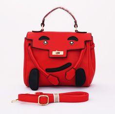 Aston Korean Bag, trendy cantik. Good quality. Limited edition. Bisa tenteng dan selempang. Warna merah. Uk 26x10x21