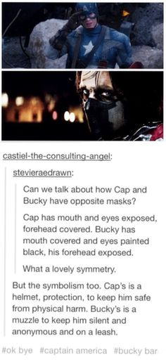Cap and Bucky's masks