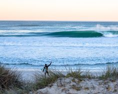 It's hard to beat sharing waves with your friends, but having a sandbar to yourself comes pretty darn close. #GoodbyeNeoprene. Photo: Ryan Craig