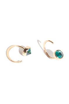 The Not-So-Typical Stud Give your ear a sparkly hug.   Melissa Joy Manning Green Mystic Topaz Hug Earring, $410, available at Melissa Joy Manning.
