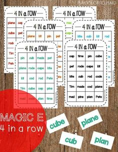 FREE Magic E 4 in a Row. Such a fun way to teach kids about the bossy E and CVCe words.