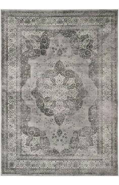 distressed + persian rug
