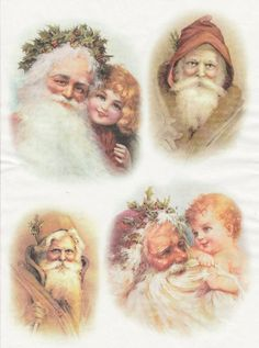 Rice Paper for Decoupage Decopatch Scrapbook Craft Sheet Vintage Working Santa 3