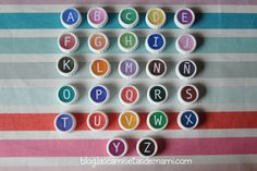DIY como hacer un abecedario con materiales reciclados | El horno de mami