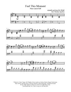 Feel This Moment - Pitbull feat. Christina Aguilera. FInd more free sheet music at www.PianoBragSongs.com.