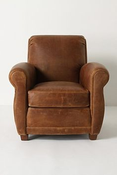 The only thing about genuine old leather club chairs is that people used to be much smaller. I want one I can curl up in, not one that feels like I'm sitting in a car bucket seat.