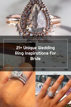 21+ Unique Wedding Ring Inspirations For Bride Wedding Rings Teardrop, Unique Weddings, 21st, Bride, Diamond, Bracelets, Inspiration, Jewelry, Wedding Bride