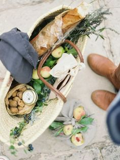 French inspired picnic lunch for two