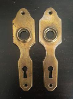 Art Deco Brass Back Plates 530905 by CharlestonHardwareCo on Etsy