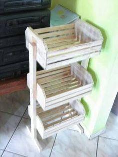 Resultado de imagen para organizadores de madera con cajas de frutas