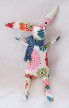 Rabbit PDF PATTERN Bunny Rabbit Sewing Pattern by CottonAndCarrot