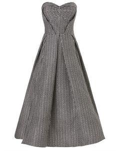 Monochrome Spot Silk Voltaire Gown | Maticevski | Avenue32