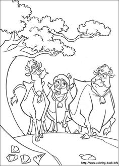 Home On The Range Coloring Picture Kids PagesDisney