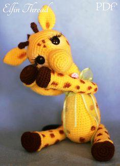 Lutin du fil Josephine le motif girafe PDF par ElfinThread sur Etsy