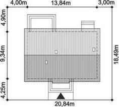 DOM.PL™ - Projekt domu ARP TRACJA 2 CE - DOM AP2-14 - gotowy koszt budowy House Plans, House Design, How To Plan, House Styles, House Floor Plans, Architecture Design, Home Design, Home Plans, Design Homes