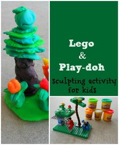 Sculpting activity - recreating a lego creation with play-doh Fine Motor Activities For Kids, Craft Activities, Preschool Crafts, Kids Learning, Lego Movie Birthday, Art For Kids, Crafts For Kids, Montessori, Used Legos