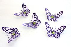 3d Butterfly wall art  Purple Baby shower by MyDreamDecors on Etsy