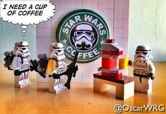 #LEGO #StarWarsCoffee #StarWars #Stormtrooper #Coffee @lego_group @LEGO