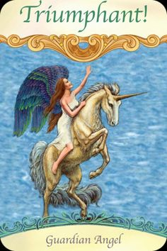 Guardian Angel ~ Triumphant! From the Saints and Angels Oracle Card deck, by Doreen Virtue, Ph.D
