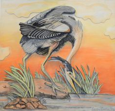 Great Blue Heron, Larry Rivers, 1997