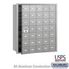 35 Door (34 Usable) 4B  Horizontal Mailbox Front Loading A Doors USPS Access