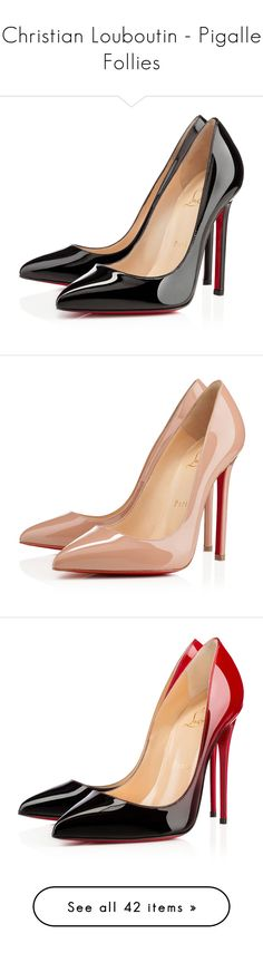 """Christian Louboutin - Pigalle Follies"" by giovanna1995 ❤ liked on Polyvore featuring shoes, pumps, heels, christian louboutin, louboutin, black, black high heel pumps, black patent pumps, black pumps and high heel pumps"