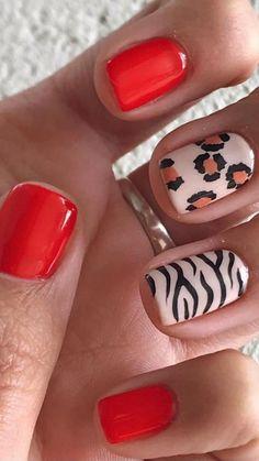 Cute Halloween Nails, Leopard Print Nails, Nail Tattoo, Party Nails, Gelish Nails, Spring Nail Art, Girls Nails, Nail Patterns, Minimalist Nails