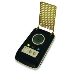 With sound effects and clips from the ground-breaking classic series, each of these Communicators is just waiting to be taken on your next away mission. Just flip open the grill, and tell Scotty you are ready to beam up.