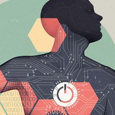 Jack Hughes Illustration: Technology Man