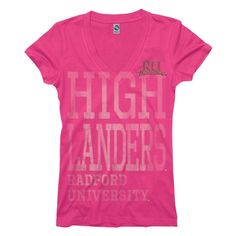 Radford University Highlanders V-Neck Tee - New Agenda by Perrin   Neebo.com