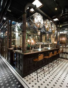 Discover recipes, home ideas, style inspiration and other ideas to try. Brewery Decor, Brewery Interior, Brewery Design, Pub Interior, Bar Interior Design, Pub Design, Pub Decor, Restaurant Brasserie, Brewery Restaurant