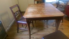 table and chairs t b painted