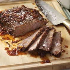 Crock Pot Sweet and Savory Brisket with ketchup, grape jelly & onion soup mix