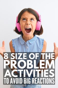8 Size of the Problem Activities for Kids | Inspired by the Social Thinking and Zones of Regulation curriculums, these games and activities teach children to identify whether a problem is small, medium, or big, as well as what is and is not an appropriate reaction to each. With visual tools, posters for class bulletin boards, scenario cards, worksheets, coloring pages, Google slides, boom cards, and puzzles, this collection of activities has it all - even Size of the Problem BINGO! Social Skills Activities, Autism Activities, Craft Activities For Kids, Educational Activities, Toddler Activities, Kids Crafts, Teaching Kids, Kids Learning, Life Skills For Children