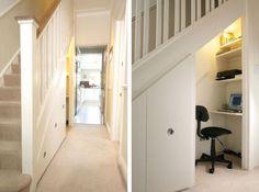 Förvaringsutrymmen kan man aldrig har för mycket av. Att använda utrymmet under trappan kan vara ett sätt att få till mer förvaring. Vi har en garderob under trappan & då ger det dessutom en hel vägg…