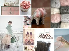 Gray and Pink: winter inspiration colour board