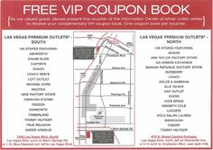 Las Vegas Premium Outlets - Discount Coupon - 120 stores. As a VIP shopper, find added savings at participating stores.