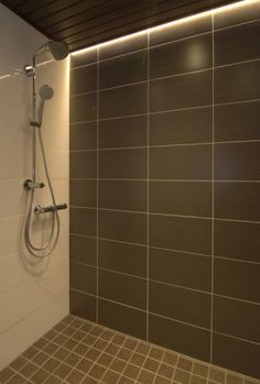 By installing shower lighting fixtures, you are able to focus the illumination where you really need it. Choose a waterproof shower lighting fixture for this application. Hidden Lighting, Spa Lighting, Shower Lighting, Strip Lighting, Bathroom Lighting, Lighting Ideas, Bathroom Led Strip Lights, Bathroom Light Fixtures, Deco Led